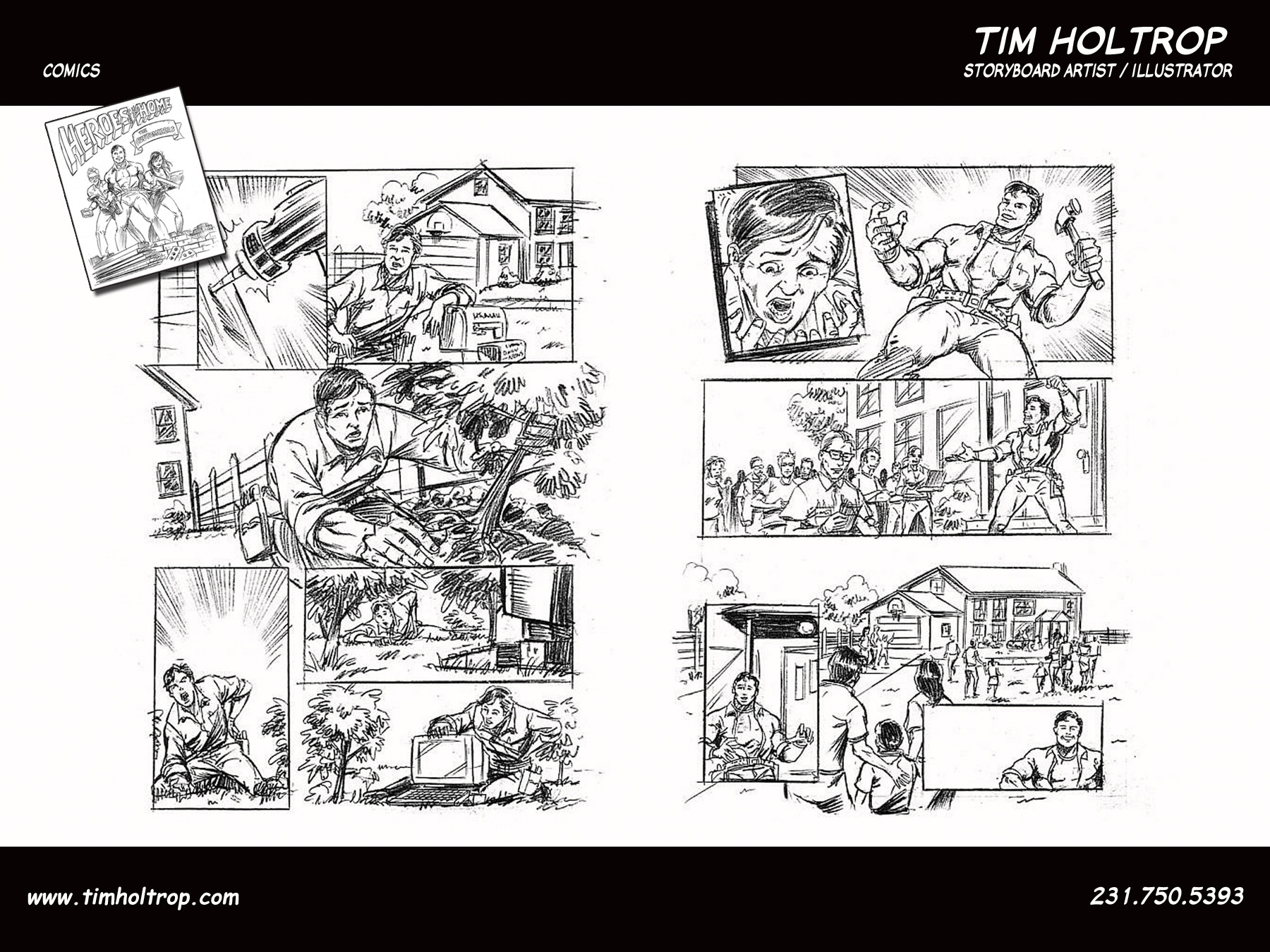 Comic Storyboards | Tim Holtrop Storyboard Artist Illustrator Comic Book