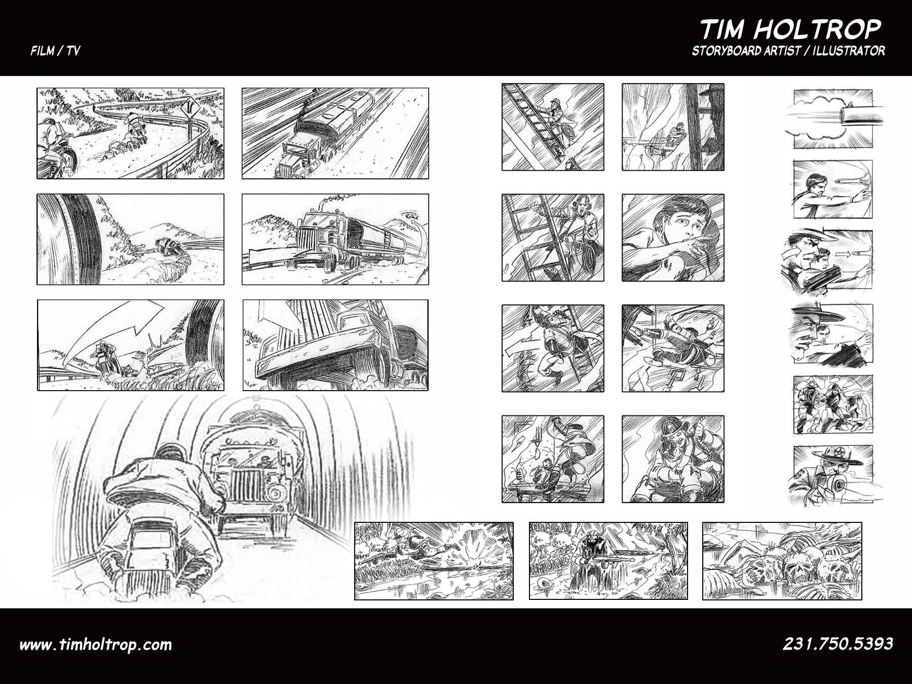 Art Samples By Storyboard Artist, Tim Holtrop    Film And Television