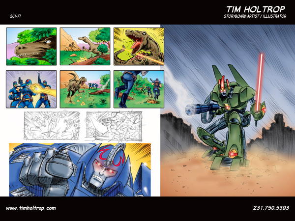 Art samples by storyboard artist, Tim Holtrop -- sci-fi