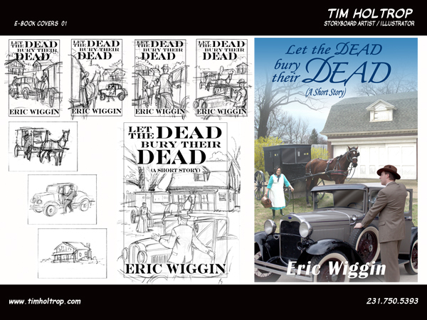 Art samples by storyboard artist, Tim Holtrop -- ebook covers